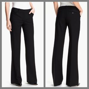 THEORY STRETCHY THICK FLARE DRESS PANTS 4